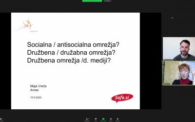 Strokovna predavanje »Družbena omrežja: Dobro ali slabo?«